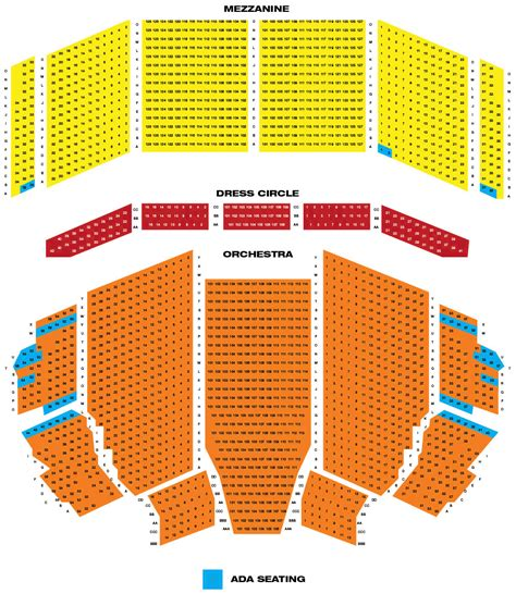 Show Of The Month Club Seating Chart Boston Opera House Seating Plan