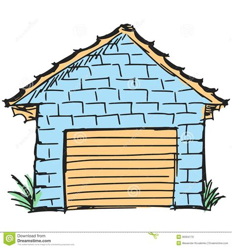garage cartoon garage stock vector image of illustration blue auto