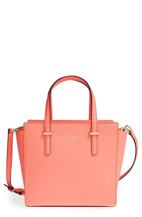 kate spade the coral shade of this kate spade leather satchel makes