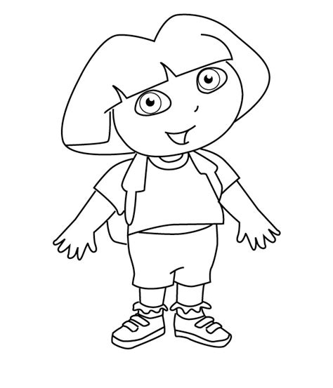 simple dora coloring pages drawing pictures dora drawing pictures