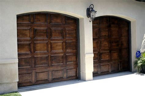 faux garage door painting faux wood painted garage doors upgrade your homes garage
