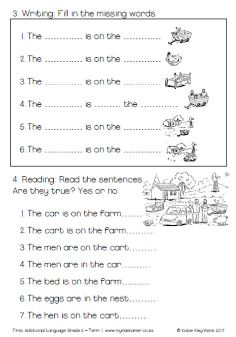 grade 2 fal learning to read and write book term