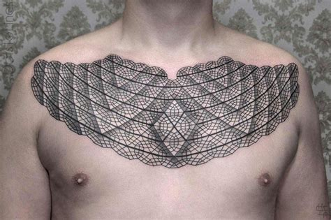 chest tattoo lines you need to see these awesome geometric line tattoos by