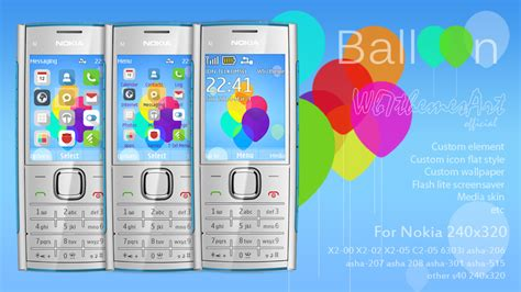 themes nokia asha 206 flat balloon theme for nokia 515 x2 00 240x320 s40 wb7themes