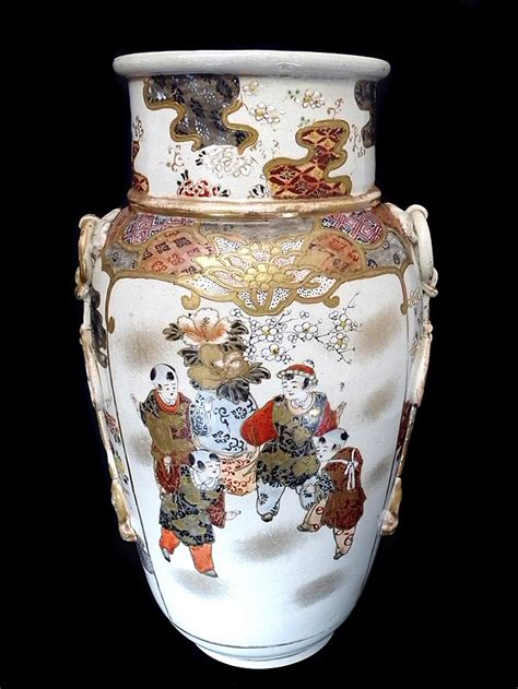 Painted Vases by Painted Antique Vase C1900 For Sale