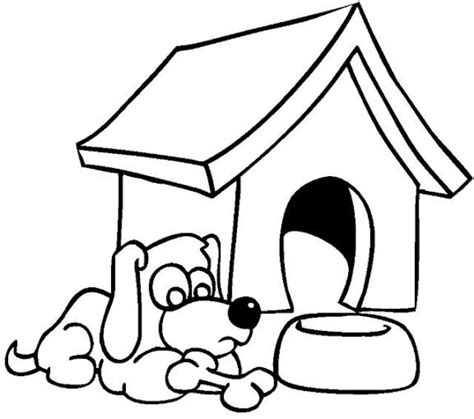 dog house coloring page coloring home