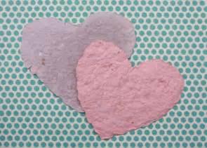 Handmade Paper Hearts - handmade paper valentines lesson plans