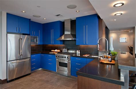 Best Paint Colors For Kitchen With White Cabinets by Blue Kitchen Cabinets Traditional Kitchen Design