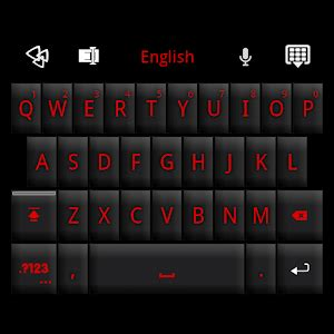 color keyboard themes pro ipa go keyboard black red theme android apps on google play
