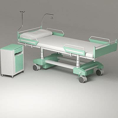 free hospital beds 3d model hospital bed