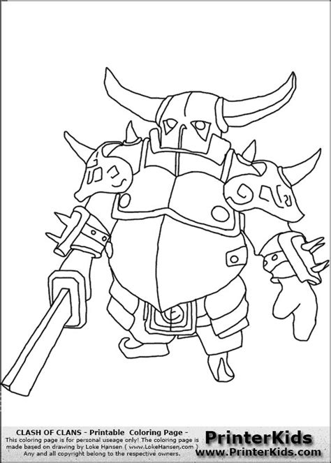 Kaos Clash Of Clan Pekka By Crion clash of clans p e k k a 1 coloring page barbarian