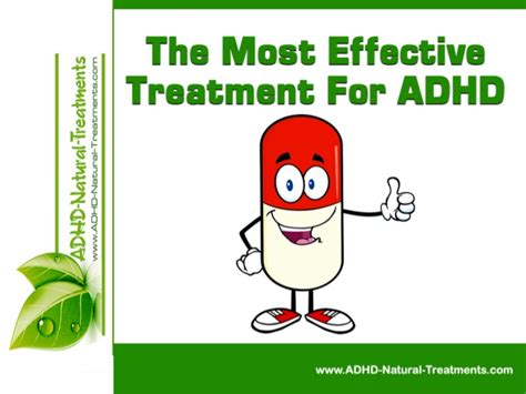 how effective is therapy the most effective treatment for adhd