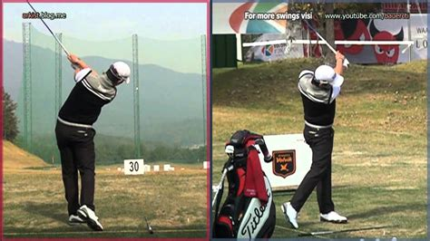 seung yul noh swing hd slow noh seung yul driver golf swing front and rear