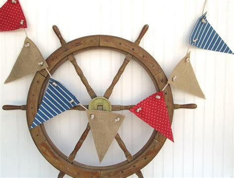 8 Nautical Theme Accessories by Nautical Decor Nautical Banner Nautical Nursery Decor