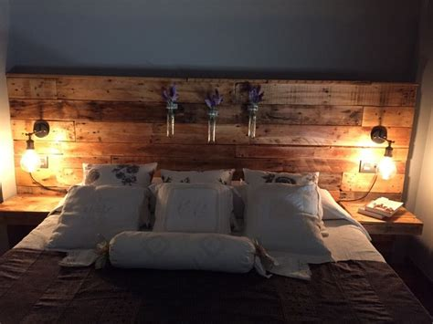 Floating Headboard Ideas Pallet Headboard With Lights Diy Pallets Pinterest Sovev 230 Relse Sofaborde Og Seng