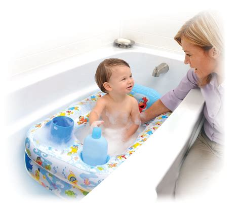 bathtub for baby online sesame street inflatable bathtub only 10 16 shipped