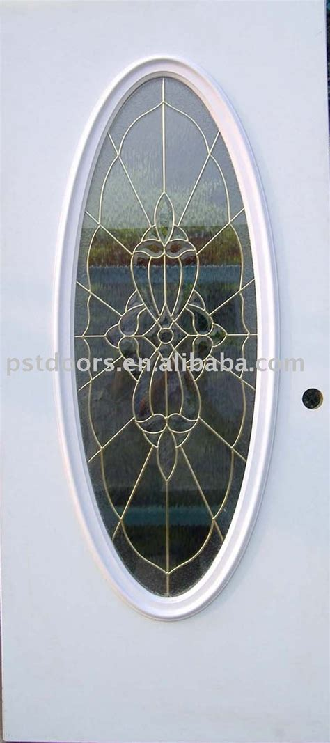 Oval Glass Insert For Front Door by Steel Door With 3 4 Oval Insert Glass Exterior Glass Door