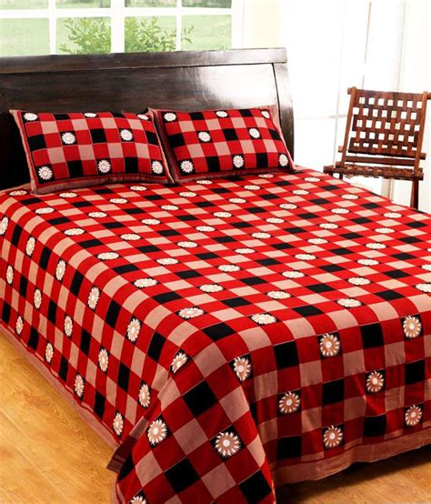 printed bed sheets 100 cotton printed double bed sheet with 2 pillow covers
