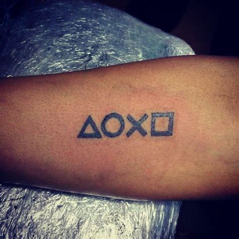 playstation tattoo playstation button on my for arm tattoos is my