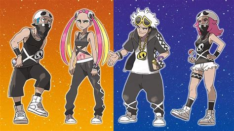 pokemon sun and moon meet team skull youtube