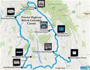 skiing canada map ski the powder highway skiing snowboarding escape2ski