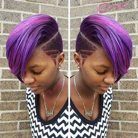 black women hairstyles sewing color purple 167 best images about black women with side cuts on