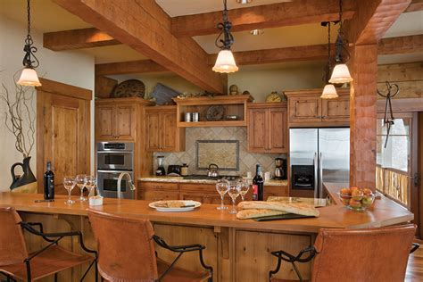 Log Home Kitchen Ideas | counter top for log cabin kitchen home design ideas essentials