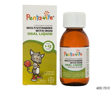 Vitamin Pentavite siro vitamin tổng hợp cho b 233 1 12 tuổi pentavite multivitamins liqui h 224 ng 218 c gi 225 rẻ