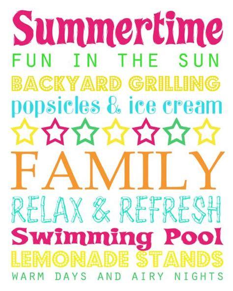 printable summer quotes free printable summer subway art summer fun pinterest