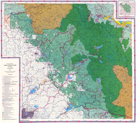 california map national forests national forest maps california