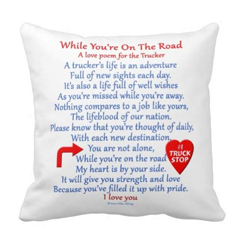 Poems About Pillows by Trucker S Poem Throw Pillow Zazzle