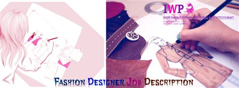fashion designer job description and activities