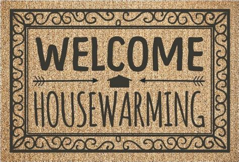 welcome rug housewarming party invitation housewarming