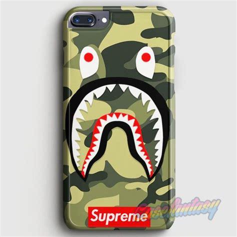 Iphone X Supreme Bape Shark Camo Pattern Cyan Hardcase shark camo bathing bape supreme iphone 7 plus casefantasy b p bape