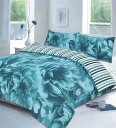 Teal Quilt Bedding Floral Lilac Or Teal Or Duvet Cover P