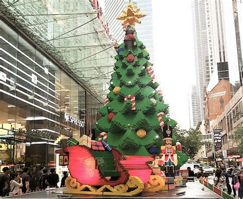 australian lego christmas tree is over 30 feet tall and
