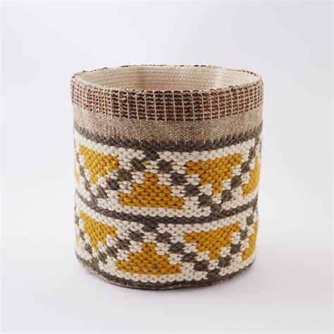 Living Room Designs India woven geo baskets west elm