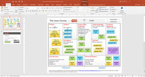 lean canvas word template 5 best editable business canvas templates for powerpoint