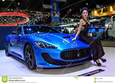 maserati thailand female presenters model with maseratigranturismo mc