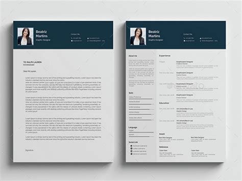 cv template ai illustrator resume templates sle resume cover letter