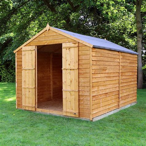 waltons windowless overlap apex wooden shed