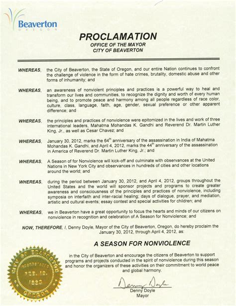 proclamation templates state and local government agnt