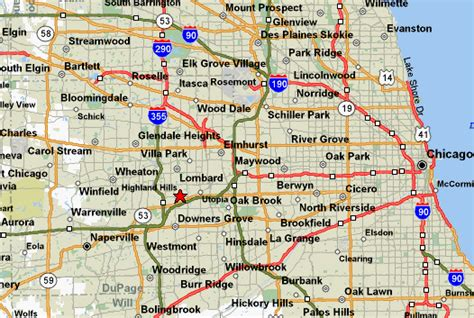 chicago suburbs map map of lombard illinois click here for an interactive mapquest map of this location for