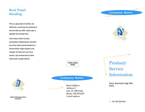 free business brochure templates word business brochure template arc design word templates
