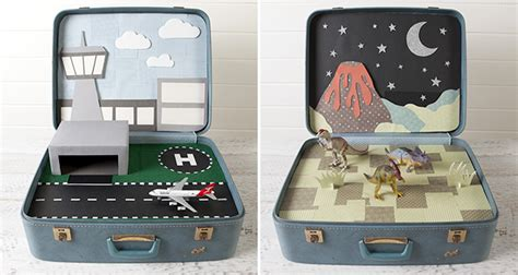 Handmade Suitcase - creative ways to recycle and reuse vintage suitcases