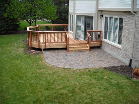backyard patios and decks deck patio combinations decktec outdoor designs