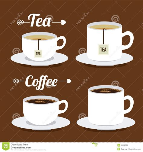Tea Time And Coffee Time coffee and tea time stock vector image 39332755