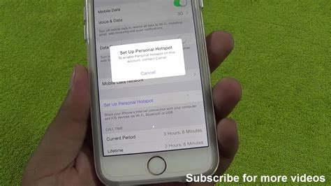how to enable fix personal hotspot on this account contact carrier issue ios 8 iphone 6 or 6
