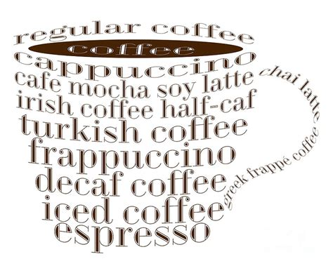 coffee names coffee shoppe coffee names typography digital by andee design