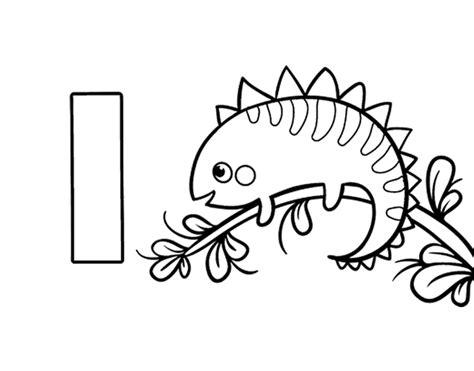 imagenes para pintar iguana dibujo de i de iguana para colorear dibujos net